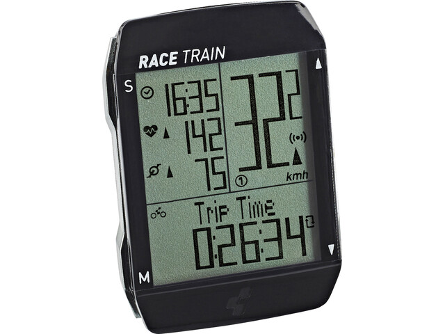 Cube Race Train Ciclocomputer, black'n'anthracite metallic
